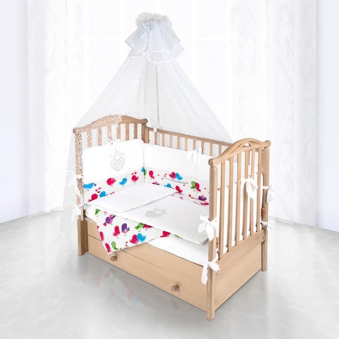 Комплект в кроватку Pituso Сердечки (6 предметов)