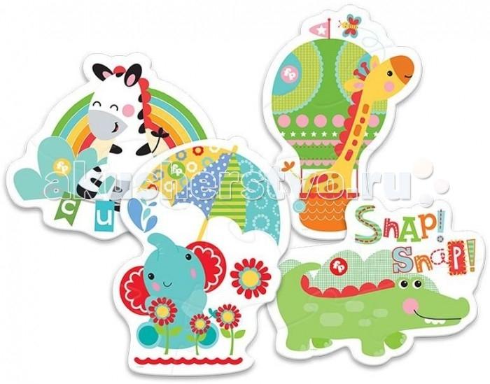 Trefl Набор из 4 пазлов для малышей Дикие животные 1 14 элементов