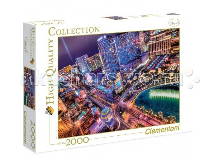Пазлы Clementoni Пазл High Quality Collection Лас-Вегас - город азарта (2000 элементов)