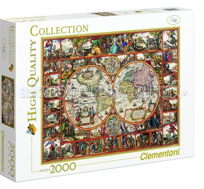 Пазлы Clementoni Пазл High Quality Collection - Старинная карта мира (2000 элементов) clementoni пазл старинная карта мира 2000 эл