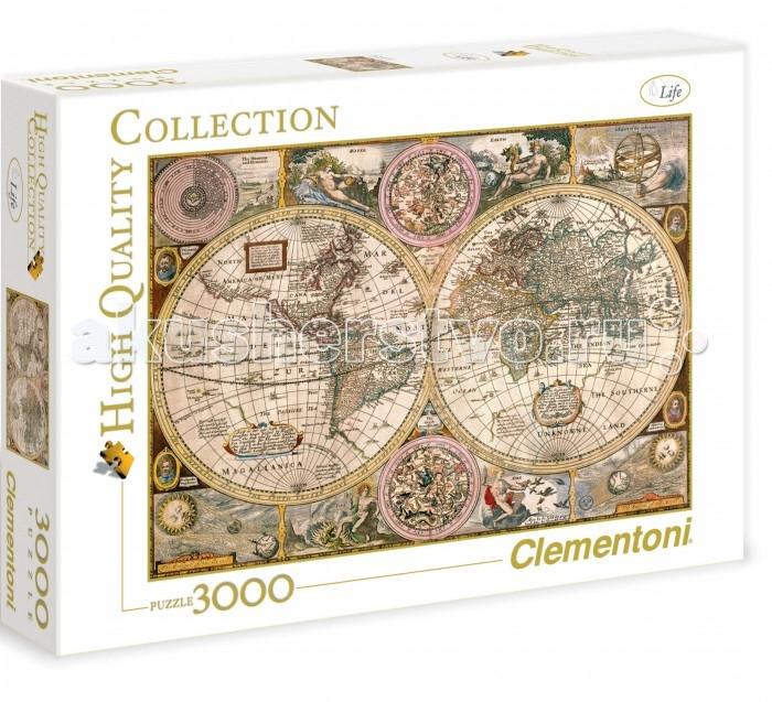 Пазлы Clementoni Пазл High Quality Collection - Древняя карта мира (3000 элементов)