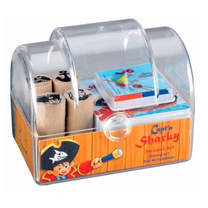 Развивающие игрушки Spiegelburg Набор штампов Captn Sharky 20145 наборы для творчества spiegelburg набор для детского творчества captn sharky 21364