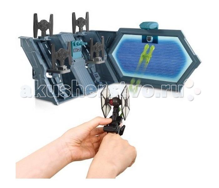 Hot Wheels Star Wars Игровой трек Бой Ти-файтераStar Wars Игровой трек Бой Ти-файтераStar Wars Игровой трек Бой Ти-файтера  Создай свою неповторимую космические трассу в стиле Звёздных Войн вместе с новыми игровыми наборами Hot Wheels: Star Wars от знаменитого американского бренда Mattel!   Игровой набор «Бой Ти-файтерра» включает в себя звездолет-истребитель и космическую базу. Звездолет черного цвета со сплошными пропеллерами по бокам, оснащен ракетами. Космический корабль крепится на руку ребенка.   Игровые наборы, представленные в ассортименте, полностью совместимы друг с другом. Таким образом, собрав всю коллекцию треков, ты сможешь создать огромную уникальную гоночную трассу для любимых машинок Hot Wheels: Star Wars.   Каждая деталь игрового набора сделана из качественной прочной пластмассы, что убережёт гоночный трек от поломок. Создавая новые уникальные космические трассы и выдумывая всё новые сюжеты для героев Звёздных Войн, ребёнок развивает воображение и логику, учится креативно мыслить и тренирует мелкую моторику.<br>