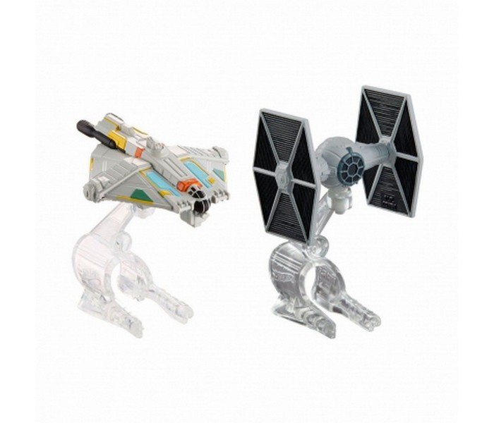 Игровые наборы Hot Wheels Star Wars корабли Rebels Ghost и TIE Fighter dhl lepin 05055 star series military war the rogue one usc vader tie advanced fighter compatible 10175 building bricks block toy