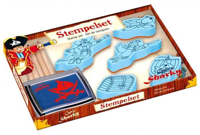 Наборы для творчества Spiegelburg Набор для детского творчества Captn Sharky 21364 постельное белье 1 5 спальное spiegelburg captn sharky 93733