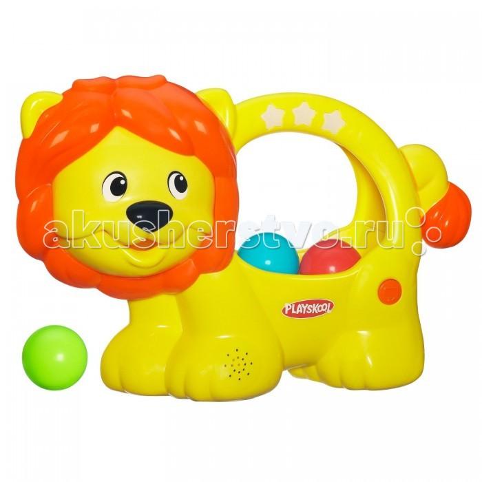 Playskool Hasbro игрушка Веселый ЛьвенокHasbro игрушка Веселый ЛьвенокРазвивающая игрушка Hasbro Веселый Львенок  это забавная и активная игра со свето-звуковыми эффектами, которая развлекает и обучает. Суть игры заключается в том, чтобы забросить разноцветные шарики в широко открытую пасть льва. Во время игрового процесса звучат подбадривающие слова (счет на трех языках) и светятся огоньки. Если малыш нажмет на хвостик животного, то все шарики весело закрутятся внутри игрушки. Имеется функция «Try me».  Упаковка оснащена удобной ручкой для переноски. Для изготовления уникального «Веселого львенка» используются только самые высококачественные, экологически чистые материалы, поэтому он соответствует строгим европейским стандартам качества. Именно это делает изделие со свето-звуковыми эффектами из серии «Playskool» от «Hasbro» совершенно безопасным для детского здоровья.<br>