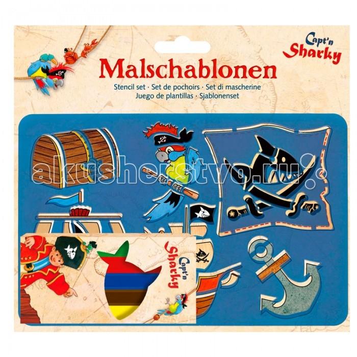 Принадлежности для рисования Spiegelburg Набор для рисования Captn Sharky 21587 набор для объемного 3д рисования feizerg fsp 001 фиолетовый