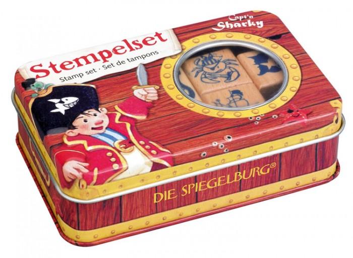 Принадлежности для рисования Spiegelburg Набор штампов Captn Sharky 21607 наборы для творчества spiegelburg набор для детского творчества captn sharky 21364