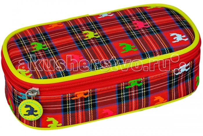 Spiegelburg Пенал Felix 11942Пенал Felix 11942Пенал для школы Felix выполнен из прочного материала яркого красного цвета. Украшен аппликацией разноцветных зайчиков и желтой подвеской с изображением зайчика.  Особенности:  Размер: 21 x 5,5 x 11 cм<br>