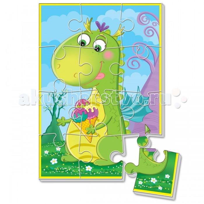 Пазлы Vladi toys Мягкие пазлы А5 Диномир. Зеленый динозавр vladi toys мягкие пазлы репка vladi toys