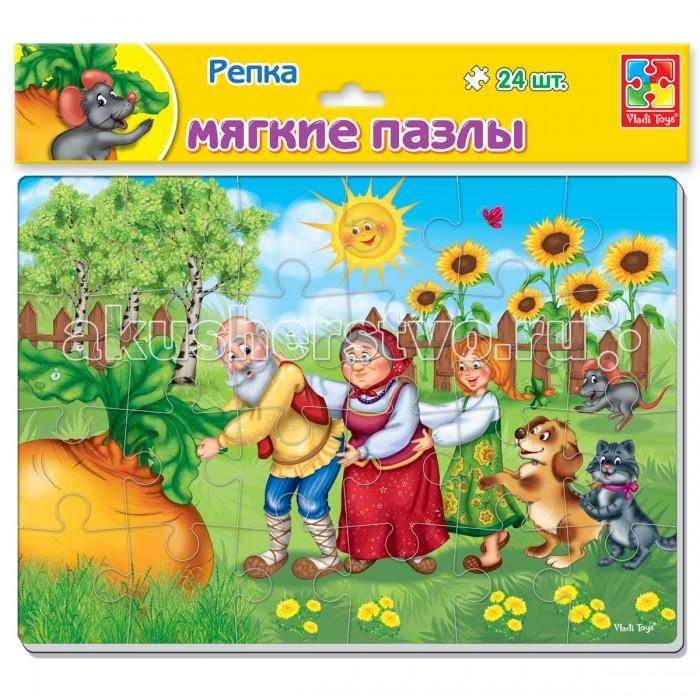 Пазлы Vladi toys Мягкие пазлы Сказки. Репка А4 24 элемент пазлы vladi toys пазлы мягкие baby puzzle сказки репка
