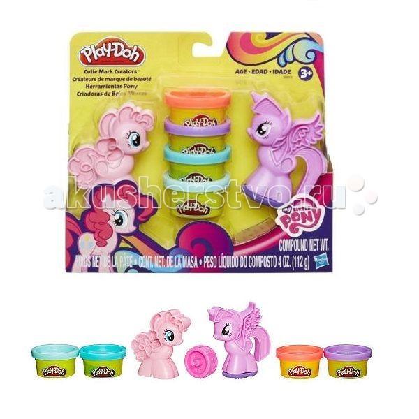 Всё для лепки Play-Doh Hasbro Набор Пони: Знаки Отличия наборы для лепки play doh игровой набор сумасшедшие прически