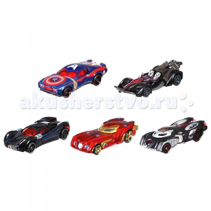 Hot Wheels Машинки персонажи комиксов Марвел 5 машинок