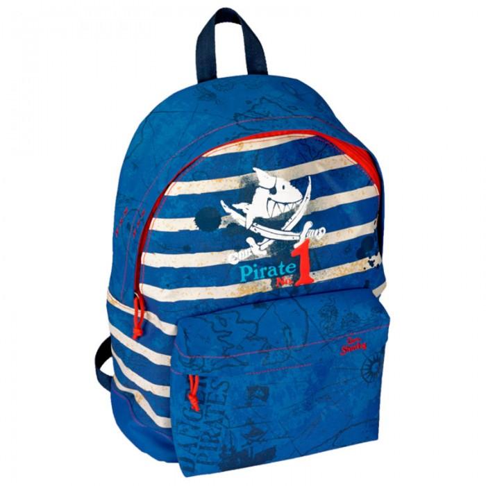 Spiegelburg Рюкзак Captn Sharky 10530Рюкзак Captn Sharky 10530Стильный рюкзак Captn Sharky для юного моряка! Изготовлен из прочного материала. Оснащен двумя секциями на молнии, удобной ручкой для переноски, эргономичными лямками.  Особенности:  Размер: 30 х 32 х 17 см<br>