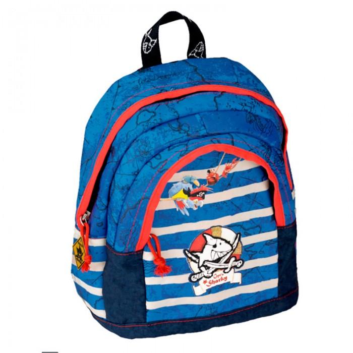 Spiegelburg Рюкзак для детского сада Captn Sharky 10566Рюкзак для детского сада Captn Sharky 10566Небольшой рюкзак Captn Sharky для детского сада и отдыха. С ярким печатным рисунком синего цвета. Оснащен съемным нагрудным ремнем. Одно отделение на молнии, впереди дополнительный карман и удобная ручка для удобства переноски.  Особенности:  Размер: 20 х 25 х 10 см<br>