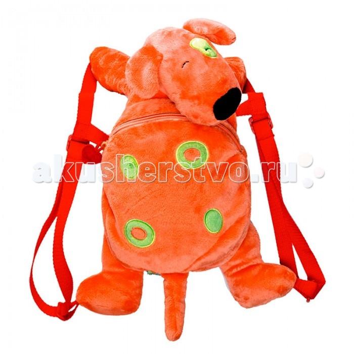 Spiegelburg Рюкзак собачка Die Lieben Sieben 10725Рюкзак собачка Die Lieben Sieben 10725Собака Генри серии Die Lieben Sieben в виде плюшевого рюкзака для детей. С подкладкой в горошек. Рекомендована, ручная стирка.  Особенности:  Размер: 40 см<br>