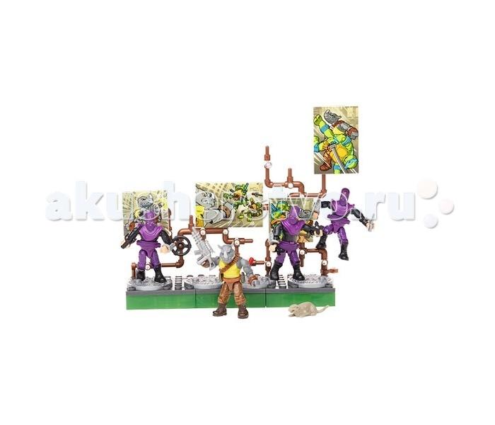 Конструктор Mega Bloks Бойцы клана Фут с Рокстеди из серии Черепашки-ниндзя 114 деталейБойцы клана Фут с Рокстеди из серии Черепашки-ниндзя 114 деталейИгровой набор Mega bloks по мотивам мультипликационного телесериала Черепашки-ниндзя. В него включены фигурки противников Черепашек – 3 бойца клана Фут, а также помощник Шредера – носорог-мутант Рокстеди.  Каждая фигурка состоит из нескольких деталей. Их вполне возможно поменять на аналогичные от других фигурок из этой же серии. Таким образом, ребенок сможет создать своего уникального персонажа. Помимо фигурок и аксессуаров к ним в комплект также входят детали для создания подставок и диорамы.  Набор состоит из 114 деталей.  Рекомендуется для детей в возрасте от 10 лет.<br>