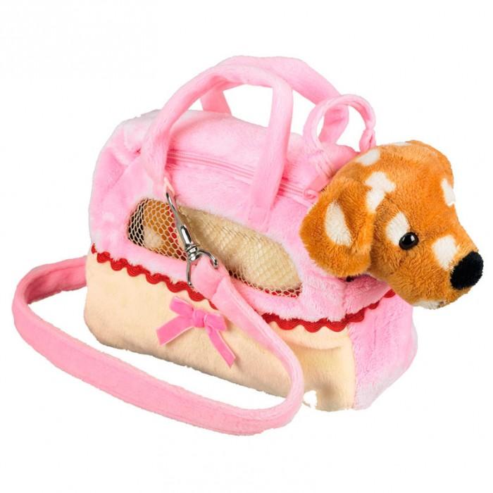 Мягкая игрушка Spiegelburg Собачка Patti в сумочке 25112Собачка Patti в сумочке 25112Spiegelburg Собачка Patti в сумочке 25112 пятнистый щенок в нежно розовой сумочке с поводком.   При желании его можно вынуть. Отличный аксессуар для маленькой модницы!  Маленькая собачка Patti придется по душе Вашему малышу. Он ни на минуту не захочет расставаться с ней!<br>