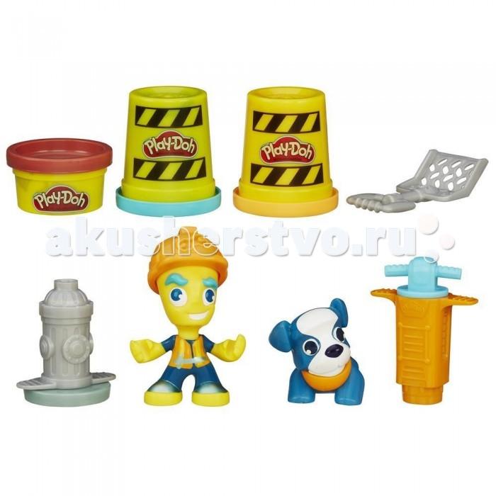 Всё для лепки Play-Doh Игровой набор пластилина Город Житель и щенок всё для лепки lori пластилин классика 16 цветов