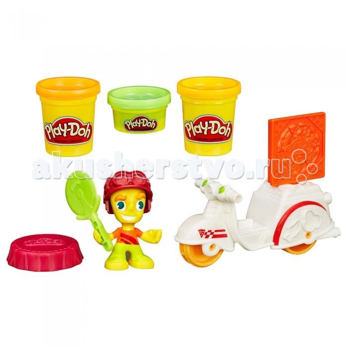 Всё для лепки Play-Doh Игровой набор пластилина Город Доставка пиццы набор для лепки play doh сладкий завтрак 6 цветов b9739