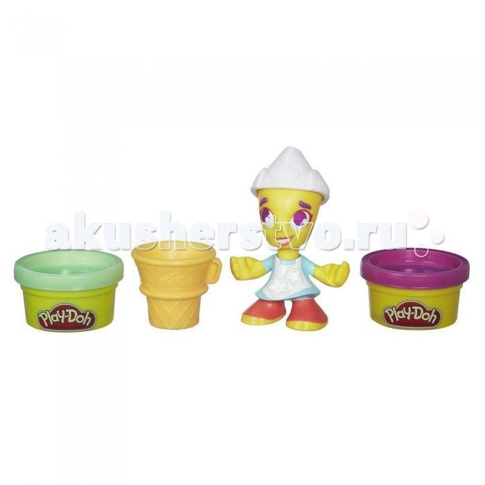Всё для лепки Play-Doh Игровой набор пластилина Город Фигурки Мороженщица набор для лепки play doh сладкий завтрак 6 цветов b9739