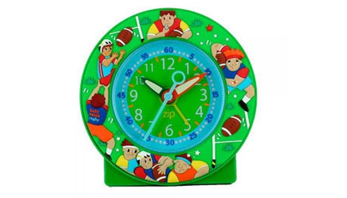 Часы Baby Watch Будильник Rugby 605446Будильник Rugby 605446Baby Watch Будильник Rugby 605446 классические часы в довольно ярких тонах. Большие цифры, понятные даже малышам.  Основные характеристики: возраст от 6 лет батарейка АА (не входит в комплект) люминесцентные стрелки тихий ход гарантия 2 года. Все модели часов разработаны во Франции, прошли проверку в независимой лаборатории и сделаны из безопасных материалов.<br>