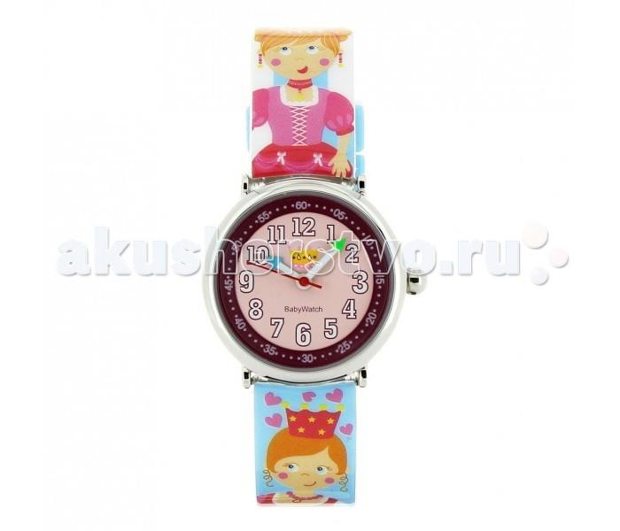 Часы Baby Watch Наручные CB Royaume Enchante 605552Наручные часы<br>Baby Watch Часы наручные CB Royaume Enchante 605552 с рельефным рисунком принцесс. Часики упакованы в подарочную упаковку. Идеально сидят на запястье.  Основные характеристики: возраст от 6 лет водонепроницаемые ударопрочные кварцевый механизм батарея Sony(срок службы два года) гарантия 2 года в комплекте обучающие часы из картона и наклейки. Размеры: диаметр 2,8 см, ремешок 21 см  Все модели часов разработаны во Франции, прошли проверку в независимой лаборатории и сделаны из безопасных материалов.
