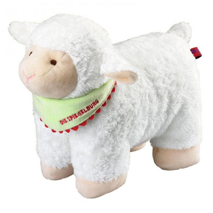 Spiegelburg Овечка - подушка 25166Овечка - подушка 25166Spiegelburg Овечка - подушка 25166 обязательно понравится как детям, так и взрослым.   Подушка выполнена из плюшевой ткани в виде милой пушистой белой овечки, на шее которой повязан зеленый платок с надписью Die Spiegelburg. Внутри игрушка наполнена 100% полиэстером - очень прочным и долговечным материалом.   Необычайно мягкая подушка принесет радость и уют, подарит своему обладателю много приятных мгновений. Такое удобное и оригинальное изделие станет ярким аксессуаром для спальни Вашего малыша.Плюшевая овечка не только отличная игрушка, но и удобная мягкая подушка, на которую можно прилечь и поспать.<br>