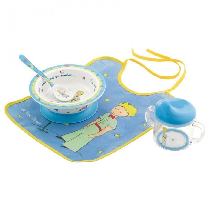 Посуда, Petit Jour Набор детской посуды Petit Prince с нагрудником  - купить со скидкой