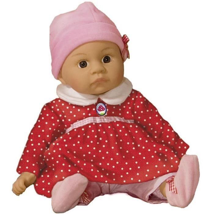 Spiegelburg Кукла Emmi Baby Gl&amp;#252;ck 30498Кукла Emmi Baby Gl&amp;#252;ck 30498Spiegelburg Кукла Emmi Baby Gl&#252;ck 30498 милая куполка Эмми в ярком платьице и розовых штанишках обязательно понравится Вашей девочке.   Тельце у куклы мягкое, а ручки, ножки и голова из винила. Одежда их хлопка.Волос на голове у куклы нет.   С Эмми можно играть часами, придумывая все новые и новые игры. Встреча с такой куклой вызывает только одно желание - позаботиться о ней, прижать ее к себе, убаюкать, покормить, поиграть. Такая игрушка - предел мечтаний любой девочк<br>