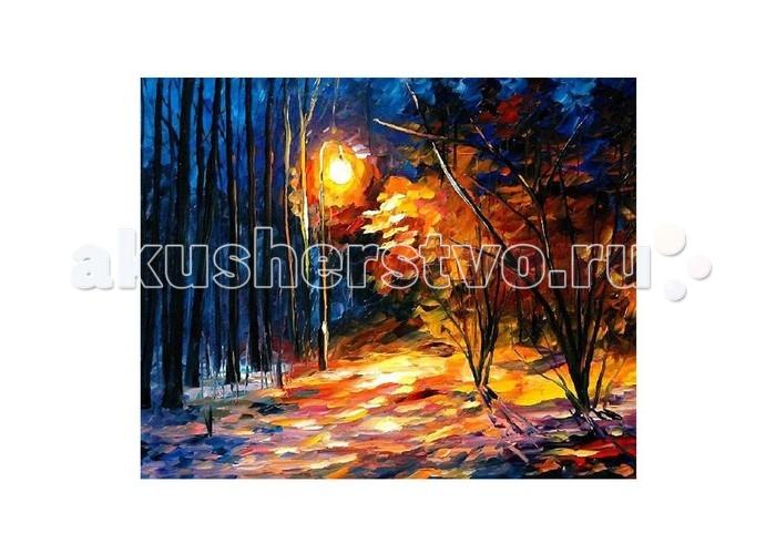 Картины по номерам Molly Картина по номерам Л.Афремов Тени на снегу наборы для рисования цветной картины по номерам сова на дереве