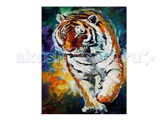 Картины по номерам Molly Картина по номерам Л.Афремов Тигр molly мозаичная картина зеленая долина 40х50 см
