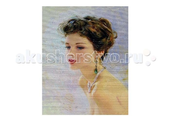 Картины по номерам Molly Картина по номерам К.Разумов Девушка с изумрудными серьгами molly мозаичная картина зеленая долина 40х50 см