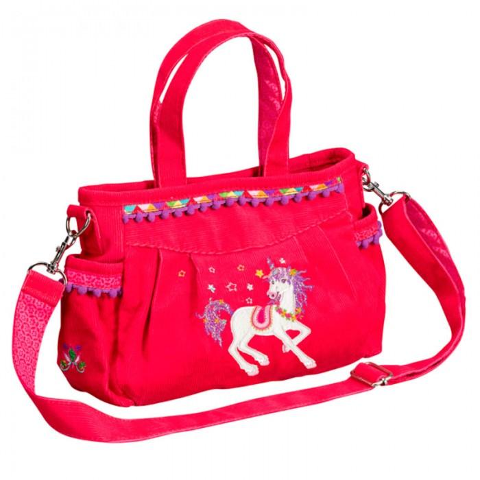 Spiegelburg Сумка Prinzessin Lillifee 10488Сумка Prinzessin Lillifee 10488Необычная и красивая сумка Prinzessin Lillifee понравится любой современной девочке! Изготовлена из вельвета и большим количеством отделений и карманов.   Особенности:   Размер: 23 х 16 х 7 см<br>