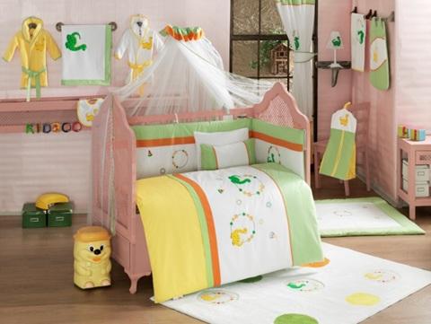 Постельные принадлежности , Комплекты в кроватку Kidboo Baby Dinos (7 предметов) арт: 19953 -  Комплекты в кроватку