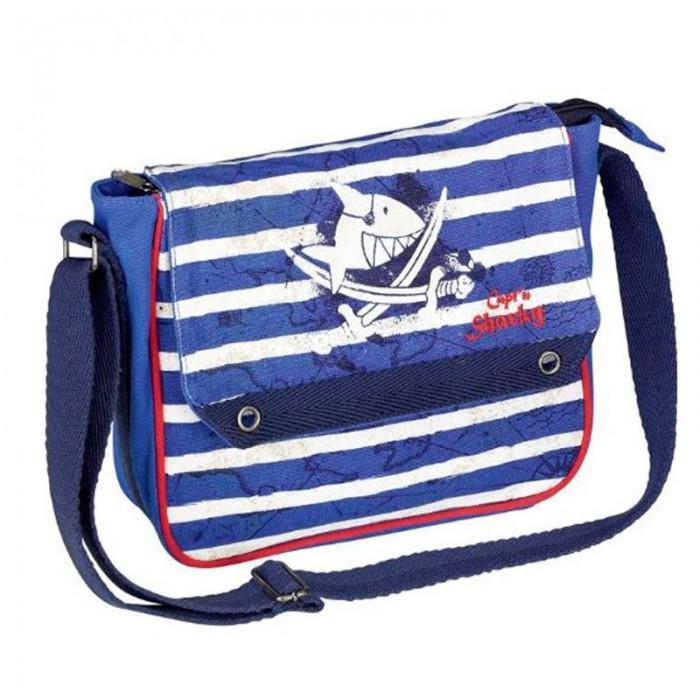Spiegelburg Сумка Captn Sharky 30532Сумка Captn Sharky 30532Яркая сумка из серии Capt'n Sharky для смелых мореплавателей! Не смотря на маленький размер, сможет легко разместить все нужные вещи. Ремень регулируемый. Основной отсек на молнии.   Особенности:   Размер: 23 x 20,5 x 7 см<br>