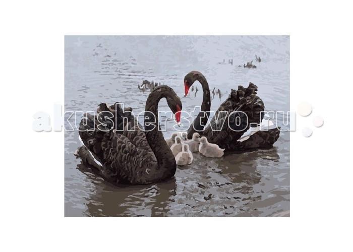 Картины по номерам Molly Картина по номерам Черные лебеди картина по номерам