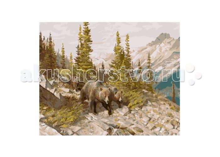 Картины по номерам Molly Картина по номерам Медведи в горах футболка белая с принтом timberland ут 00011529