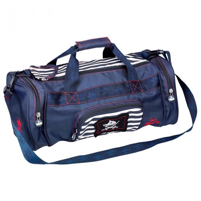 Spiegelburg Спортивная сумка Captn Sharky 30480Спортивная сумка Captn Sharky 30480Прочная спортивная сумка Capt'n Sharky для юных и смелых пиратов! Имеет тир наружных кармана, два из них боковых, а также практичное и просторное отделение.    Особенности:   Размер: 43 x 18 x 20 см<br>