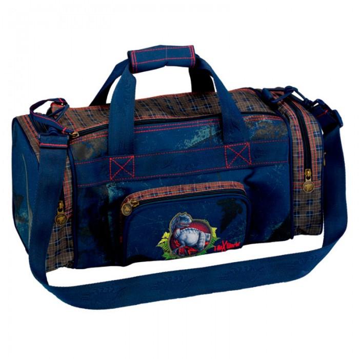 Spiegelburg Спортивная сумка T-Rex World 30564Спортивная сумка T-Rex World 30564Спортивная сумка T-REX отличный вариант для похода, поездки или занятий спортом. Вместительная на двух боковых ручках, из прочного материала, легко моется. Для удобства носки есть съемный регулируемый наплечный ремень.  Особенности:   Размер: 43 x 18 x 20 см<br>