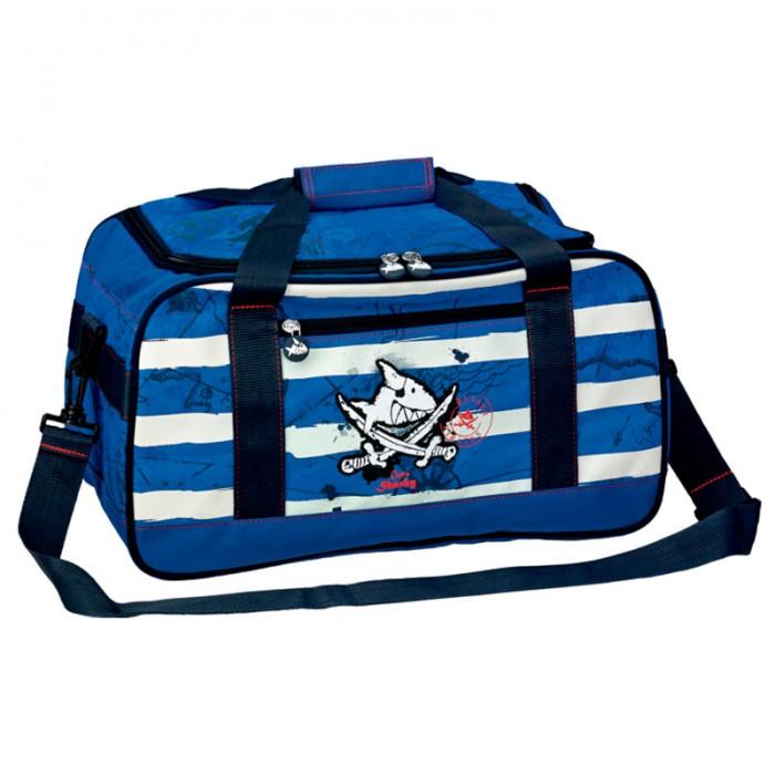 Spiegelburg Спортивная сумка Captn Sharky 10877Сумки для детей<br>Отличная сумка для занятий спортом для маленьких пиратов. Практичная и внутренняя планировка спортивной сумки Captn Sharky позволяет идеально разместить обувь и спортивную одежду отдельно друг от друга.   Особенности:   Размер: 42 х 23 х 22 см