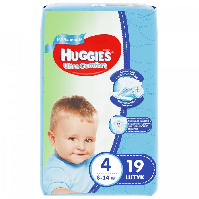 Подгузники Huggies Подгузники Ultra Comfort Conv Pack для мальчиков 4 (8-14 кг) 19 шт. huggies подгузники huggies ultra comfort для девочек giga pack 4 8 14 кг 80 шт