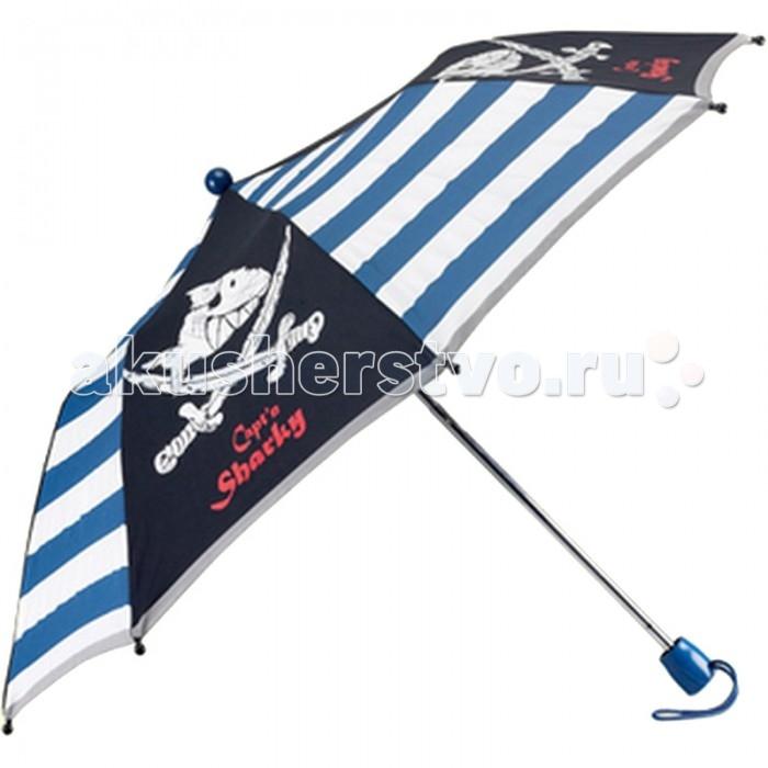 Детский зонтик Spiegelburg Captn Sharky 20721Captn Sharky 20721Складной зонт Captn Sharky из современного непромокаемого материала имеет прочную конструкцию и станет надежным и стильным аксессуаром, а яркая расцветка поднимет настроение в самую пасмурную погоду!  Особенности:   Размер: &#216;80 см<br>