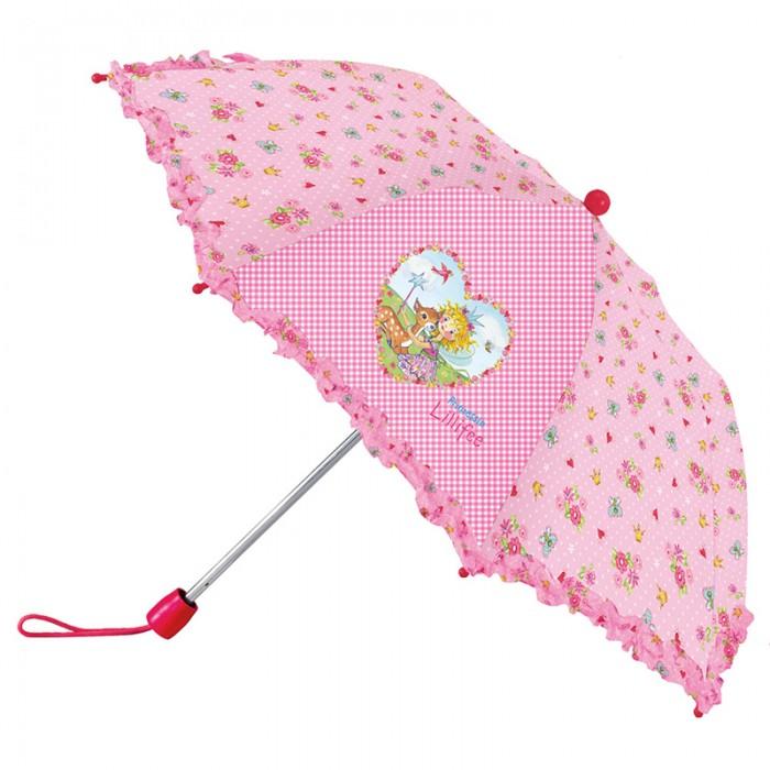 Детский зонтик Spiegelburg Зонт Prinzessin Lillifee 21050Зонт Prinzessin Lillifee 21050Складной зонтик с рюшами Prinzessin Lilifee станет любимым аксессуаром для маленькой принцессы в пасмурную и дождливую погоду. Он имеет легкий и удобный механизм, поэтому ребенок без труда сможет сам закрывать открывать зонтик.  Особенности:   Размер: &#216;80 см<br>