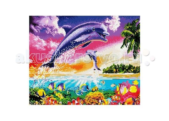 Molly Мозаичная картина Танец дельфиновМозаичная картина Танец дельфиновMolly Мозаичная картина Танец дельфинов GZ585  Создание мозаики – это захватывающий и увлекательный творческий процесс, занятие для души и отдых от повседневных забот. С помощью этого набора вы можете создать настоящий рукотворный шедевр. Камушек за камушком и основа картины будет закрываться блестящим панцирем. Готовая картина станет прекрасным украшением вашего дома.  Комплектация: - тканевый холст с клеевым слоем и с нанесенной схемой рисунка; - металлический пинцет; - пластиковый контейнер для элементов мозаики; - специальный карандаш; - клей-липучка для карандаша; - комплект разноцветных мозаичных элементов диаметром 2,5 мм.  Размер: 40х50 см.<br>