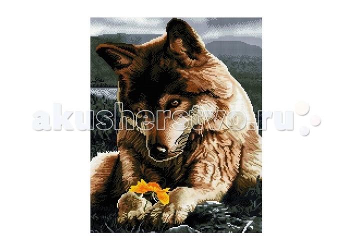 Molly Мозаичная картина Любознательный волчонок