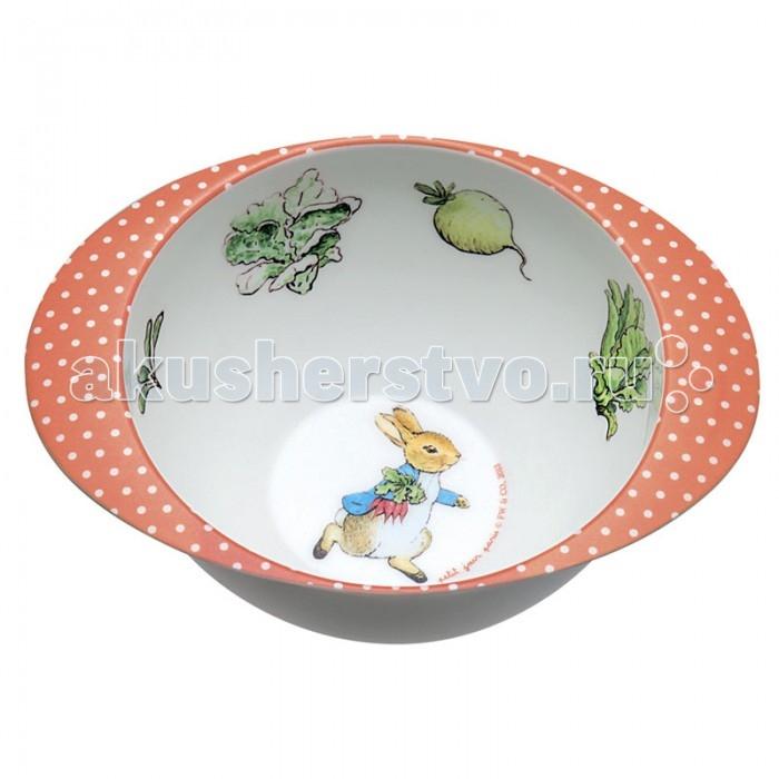 Посуда Petit Jour Тарелка глубокая с ручками Peter Rabbit посуда petit jour тарелка petit prince