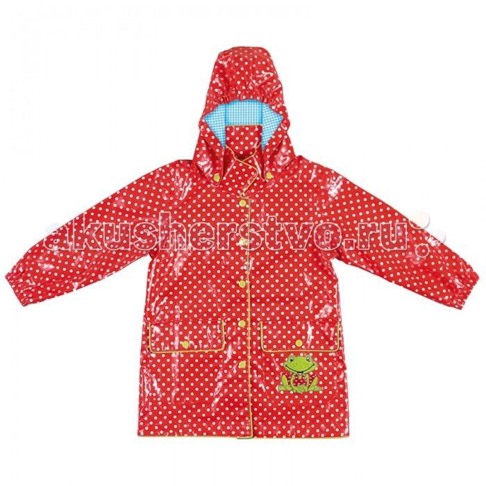 Spiegelburg Плащ детский GardenПлащ детский GardenНа улице дождь? Не беда! Красивый дождевик Garden для детей легко защитит Вашу малышку в эту ненастную погоду. Имеет затягивающиеся эластичные шнурки в капюшоне и рукавах. Капюшон отстегивается.  Особенности:   Размер: M 104/116<br>