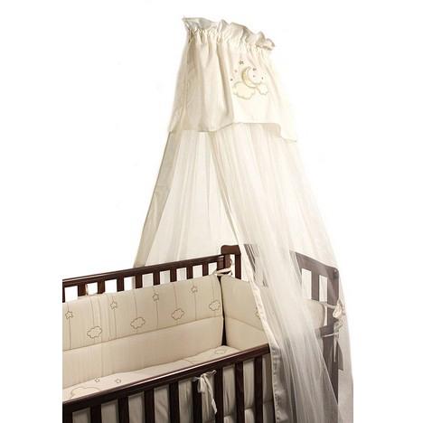 Балдахин для кроватки Fiorellino Luna ElegantLuna ElegantНежный балдахин для детской кроватки Fiorellino Luna Elegant, сделанный из тюля, будет радовать Вас своим аристократическим внешним видом, а Вашего малыша – надежной защитой от яркого света, мух и комаров.  Длина- 5 метров.<br>