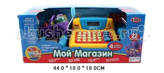 Ролевые игры Shantou Gepai Касса электронная Мой магазин со сканером и набором продуктов игрушка электронная развивающая мой первый ноутбук